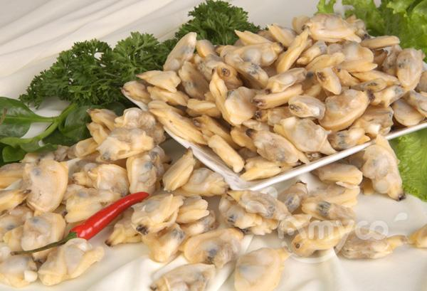 Frozen short necked clam meat